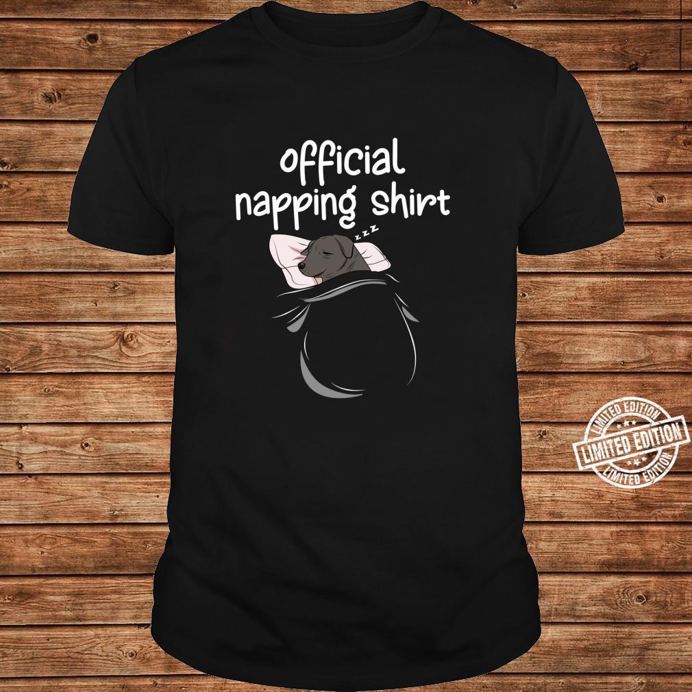 Black Labrador Sleeping Shirt Pajamas Nap PJs Napping Shirt long sleeved