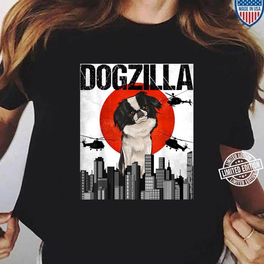 Funny Vintage Japanese Dogzilla Japanese Chin Shirt ladies tee