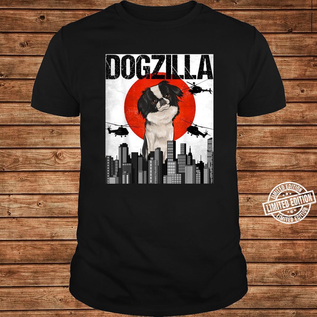 Funny Vintage Japanese Dogzilla Japanese Chin Shirt long sleeved