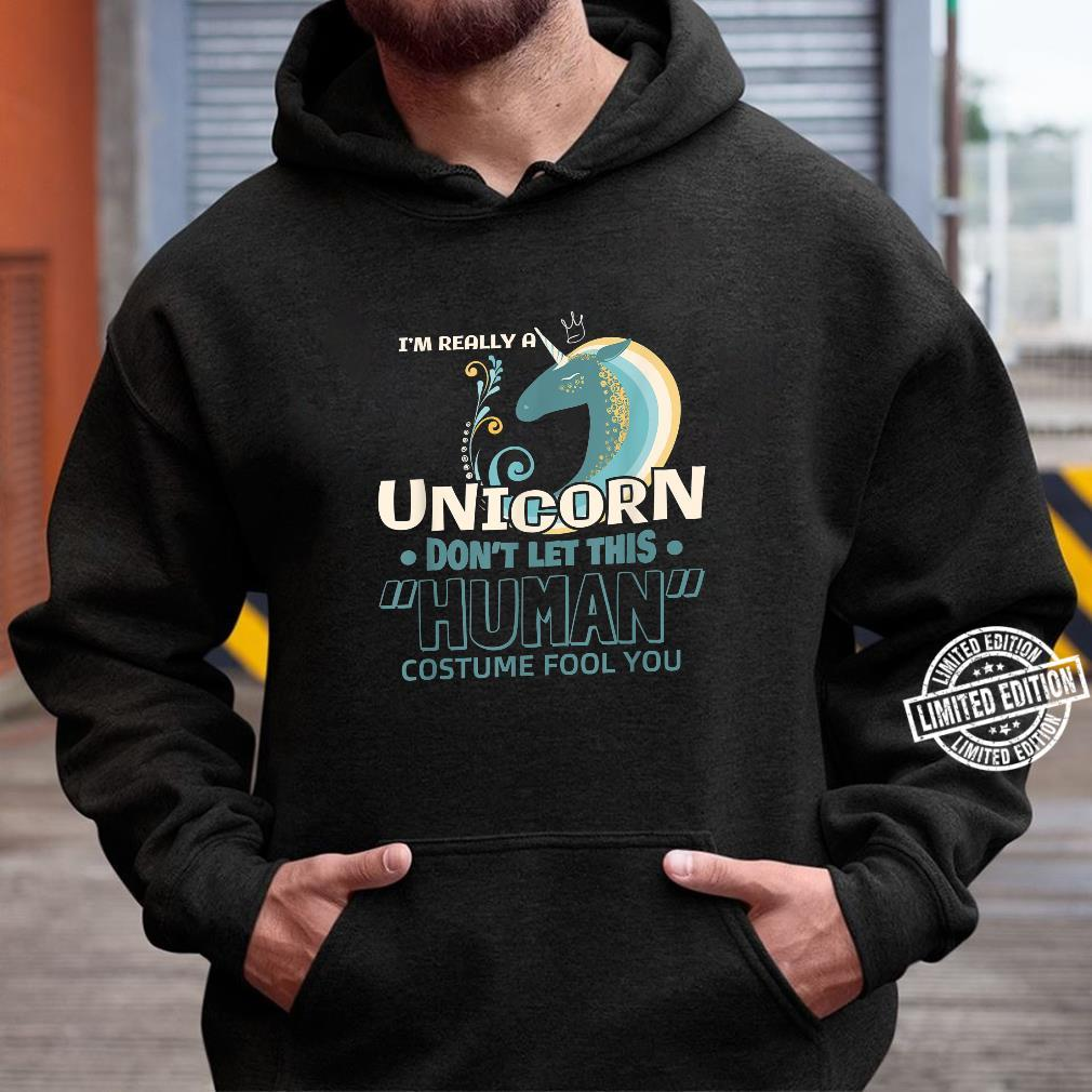 I'm really a Unicorn Halloween Costume DIY Shirt hoodie